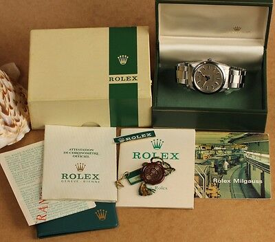 VINTAGE ROLEX MILGAUSS REF. 1019 ca. 1970, FULL SET ORIGINAL PAPERS, SERIAL 2.5M