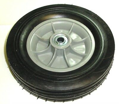 Hand Truck Tire With Offset Hub Semi Pneumatic 10 X 2-34 Wheel With 34 Id