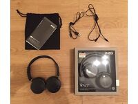 AKG Y50BT Wireless Bluetooth Headphones With Original Box and Cables