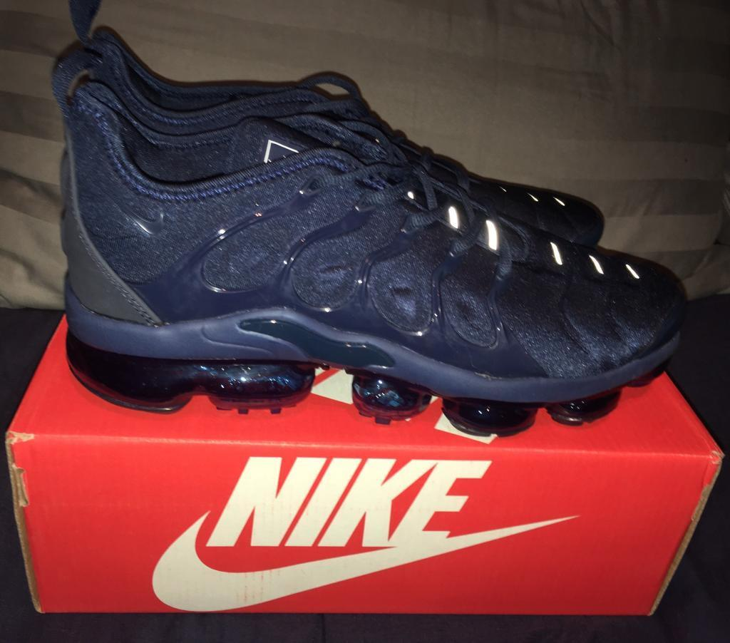 outlet store 70f63 5937f Nike Air Vapormax TN Plus TUNED Trainers Dark Blue Navy Mens UK 10 BNIB