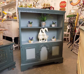 Painted Shabby Chic Bookcase / cabinet
