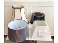 4 x New & Used Vintage Retro Table Desk Standard Lightshades Lampshades
