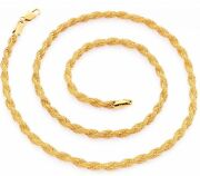 18K Solid Gold Rope Chain