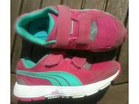 Girls Puma trainers size 13