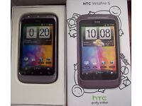 HTC Wildfire S in lilac ,Smartphone boxed and in VGC on vodafone