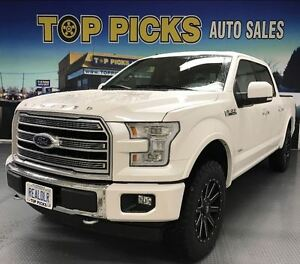 2017 Ford F-150 LIMITED, TWO TONE LEATHER, 22 WHEELS, MASSAGE SE