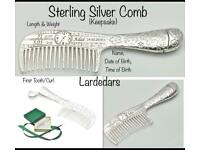 New Sterling Silver baby Comb gift FREE personalised engraving!