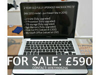 """MACBOOK PRO 13"""" Fully Upgraded 2.9GHz / 1TB / 8GBmemory / i7processor (Great Condition)."""