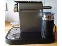 Krups Nespresso Citiz coffee machine with inegrated milk warmer/frother