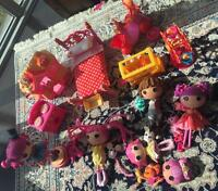 Lalaloopsy bundle ,dolls, doll house,doll bed,almost new