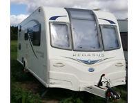 Bailey Pegasus Ancona GT65 6 berth caravan - rare fixed bunk beds model. Very clean.