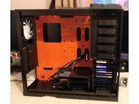 NZXT Phantom Big Tower USB 3.0 PC Case - Orange - Noise Dampened - Used