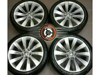 "18"" Genuine VW Scirocco alloys 5x112, great cond, excellent matching tyres."