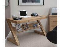 Opus Z Solid Oak Designer Desk - Brand New Boxed
