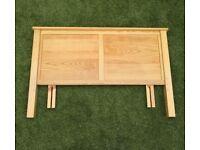 Oak Headboard - Adjustable Double & Kingsize Bed