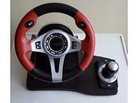 Logic 3 TopDrive GT Steering Wheel, Gear Stick & Pedals - PSU448