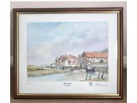 BLAKENEY QUAY NORFOLK BY ROY HAYDON. LIMITED ADDITION SIGNED AND NUMBERED