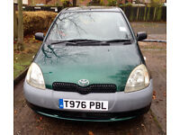 £500 Toyota Yaris 1.0 GS 3 Door Hatchback 998cc.