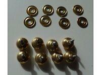 8 Brass Door or Drawer knobs