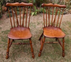 Two Quality Wooden Chairs