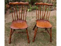 Pair of Quality Wooden Chairs