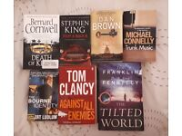 Selection of thriller books