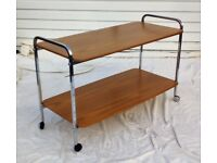 Good QUALITY Mid Century Retro Coffee Table Trolley