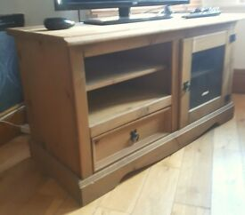 £40-Solid pine TV cabinet, good condition
