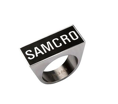 Action Drama Biker Gang Tv Show Sons Of Anarchy Samcro Stainless Steel Ring