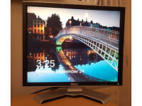 """Dell 19"""" Ultrasharp Flat LCD Monitor (power & VGA cables included)"""