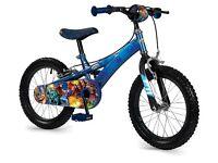 Excellent cond. Skylanders Kids Bike & Helmet - Blue, 16 Inch. 40cm. Awesome Skylanders graphics