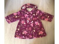 Jojo Maman Bebe gorgeous girls needlecord floral coat 12-18 months