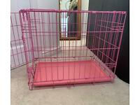Pink Dog/ Puppy Crate Cage