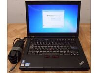 Lenovo Thinkpad T420 laptop Intel Core i5-2nd gen CPU 320gb hd 8gb ram high res 1600x900 screen
