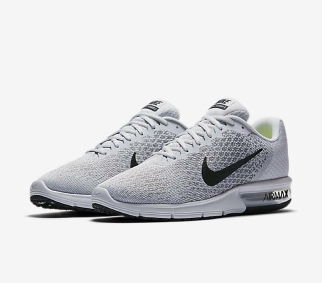 Nike Air Max Sequent 2 Men s Size 8 White Grey  0cba25906