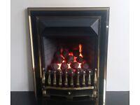 Valor Visage 4.0 Kw Convector Inset Gas Fire (Black/Brass)