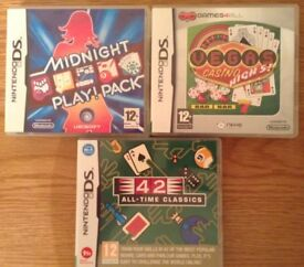 Nintendo DS Casino Games X 3