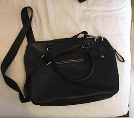 Black laptop bag / office backpack / daypack / manbag