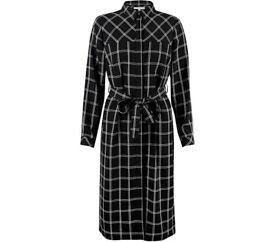 Oliver Bonas Black Check Shirt Dress Size 12