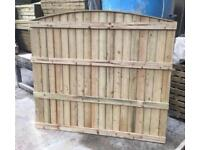 🏅High Quality Arch Top Wooden Fence Panels | Tanalised