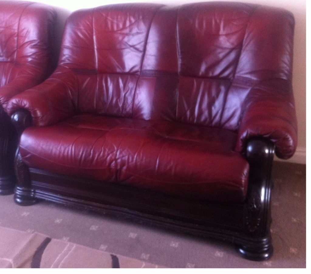 Belgium Detachable Leather Sofas Set Of 2 Seater AND 1 Seater