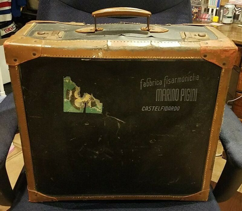 Vintage Marino Pigini Castel Fidardo Italian Accordion Case Only 19x17x9 Luggage