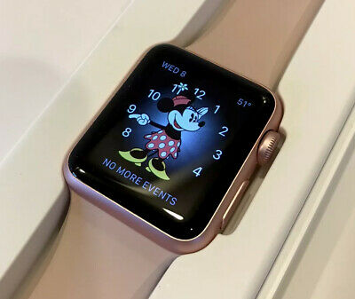 🍎Apple Watch Series 7000 Rose Gold 38mm  LRG/ small Pink bands PREOWNED A+ ⭐️