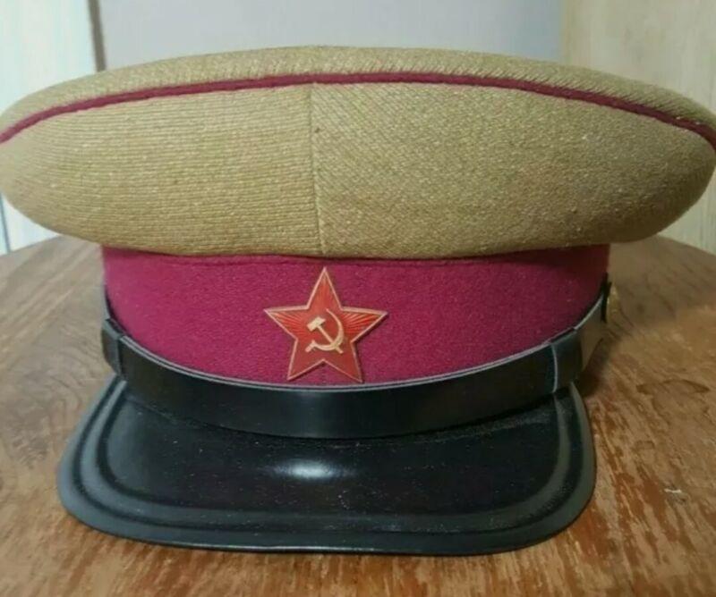 Soviet USSR M35 Officer Infantry Rifles Summer Peaked Cap Hat Replica