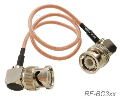 BNC Right-Angle Male to BNC Right-Angle Male 50-Ohm RG316 Coax Low Loss RF Cable