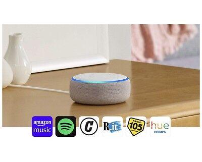 Amazon Echo Dot 3ª Generazione Altoparlante Intelligente con Alexa Bianco NUOVO.