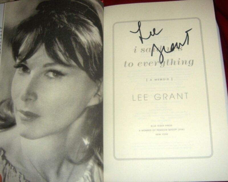LEE GRANT.. I Said Yes to Everything: A Memoir (1/1) SIGNED + Pics