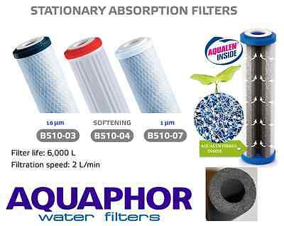 AQUAPHOR In line 1,10mic,SOFT Carbon Fibre Block Water Filter Cartridges