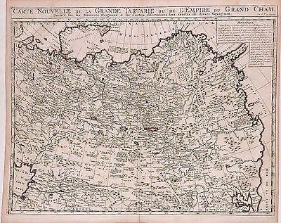 Antique map, Carte nouvelle de la Grand Tartarie ou de l'Empire du Grand Cham
