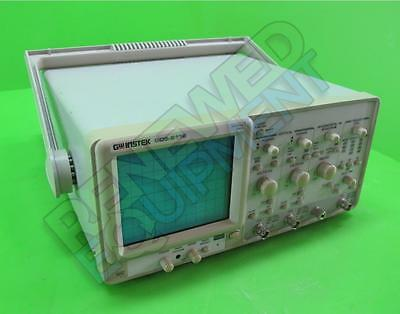 GW Instek GOS-6112 2-Channel 100MHz Curser Readout Analog Oscilloscope